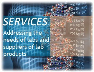 Services : Addressing the needs of labs and suppliers of lab products